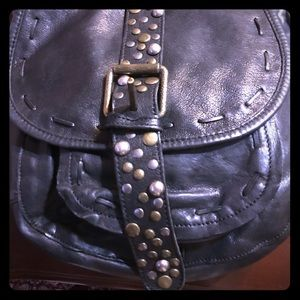 Patricia Nash genuine Italian leather studs bag